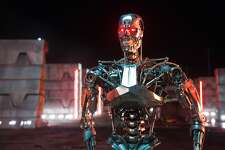 """This photo provided by Paramount Pictures shows, Series T-800 Robot, in """"Terminator Genisys,"""" from Paramount Pictures and Skydance Productions. (Melinda Sue Gordon/Paramount Pictures via AP)"""