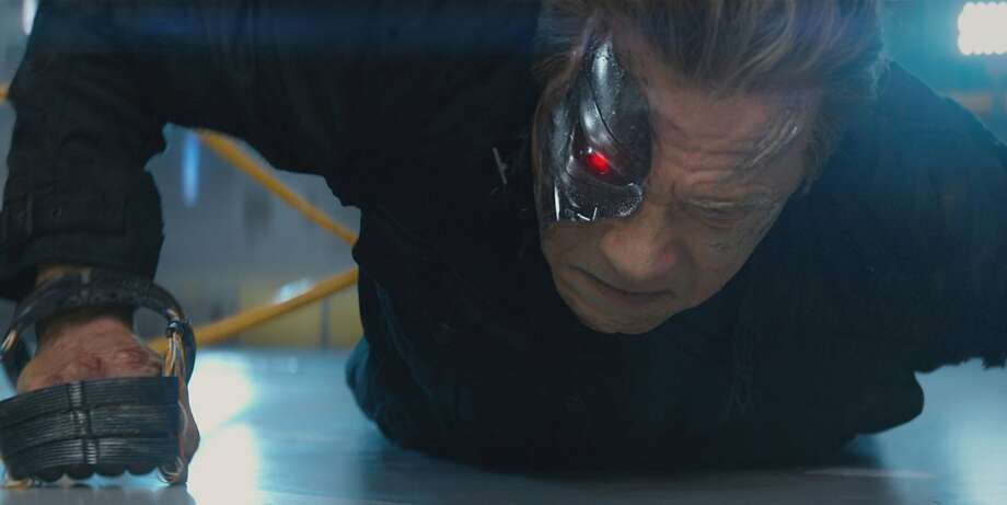 "Arnold Schwarzenegger reprises his role as the Terminator in ""Terminator Genisys."" (Melissa Sue Gordon/Paramount Pictures/TNS) Photo: Melissa Sue Gordon, McClatchy-Tribune News Service"