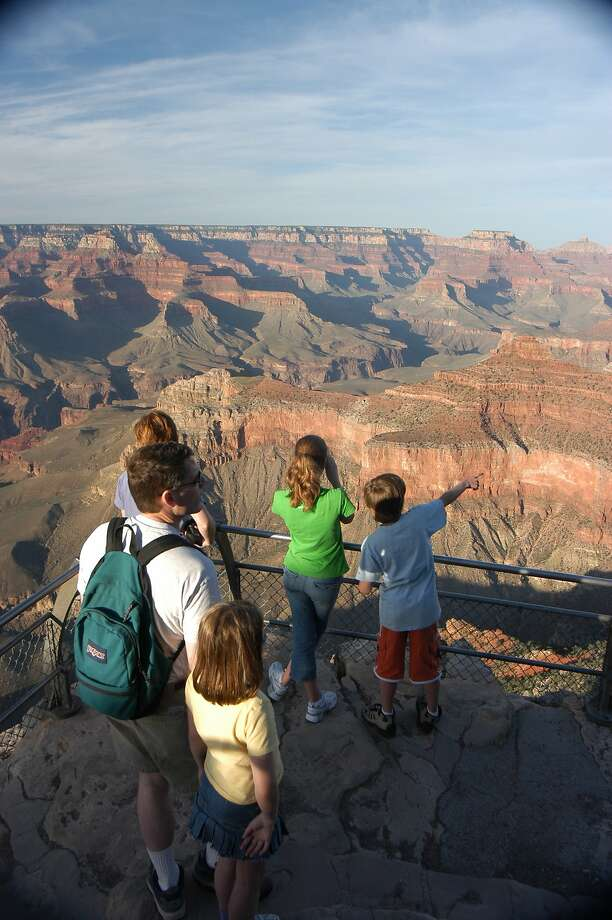 Visitors get a good view from the south rim of the Grand Canyon. Photo: Spud Hilton, The Chronicle