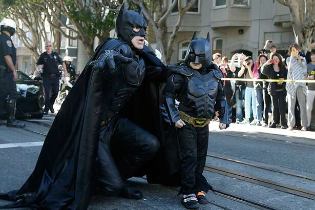 "Still from ""Batkid,"" a documentary about the day San Francisco came together for Miles Scott, and how his Make-A-Wish event became a social phenomenon. (Handout)"