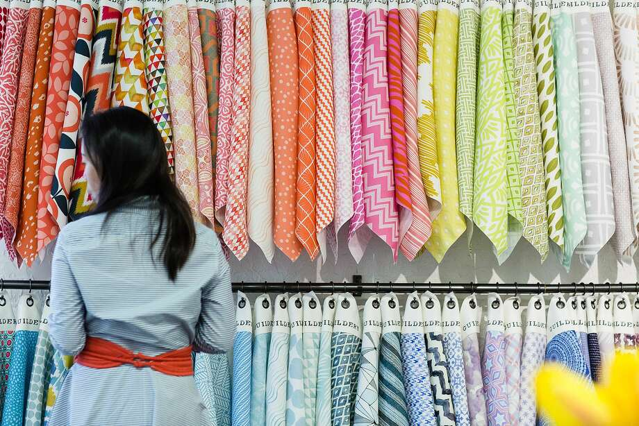 The Guildery Shop in Los Altos is Nash's go-to for outdoor fabrics. Photo: Guildery