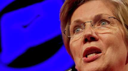 Massachusetts Senator, Elizabeth Warren speaks at the Jefferson Jackson Bailey dinner at the Connecticut Convention Center on Monday, June 29, 2015.