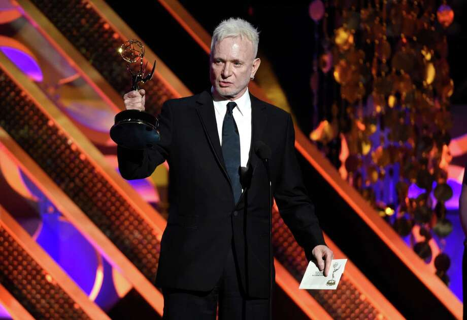 """""""General Hospital"""" star Anthony Geary, shown accepting one of his eight Daytime Emmys, began playing Luke Spencer in 1978.  accepts the award for outstanding lead actor in a drama series for """"General Hospital,"""" at the 42nd annual Daytime Emmy Awards in Burbank, Calif. After 37 years, Geary finishes his role as Luke Spencer on ABC's """"General Hospital"""" on Monday, July 27, 2015. (Photo by Chris Pizzello/Invision/AP, File) Photo: Chris Pizzello, INVL / Invision"""