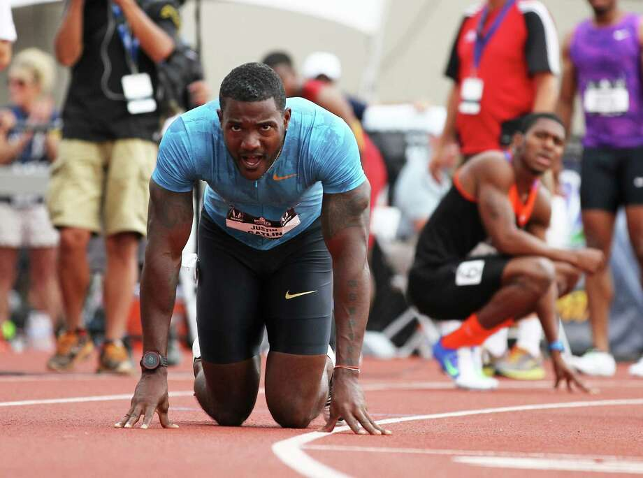 Justin Gatlin will enter the world championships on a high note after coasting to the 200-meter title at the U.S. championships in a meet-record 19.57 seconds. Photo: Ryan Kang, FRE / FR171219 AP
