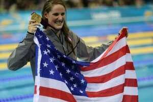 Missy Franklin was named the top female athlete in the country. David J. Phillip/AP