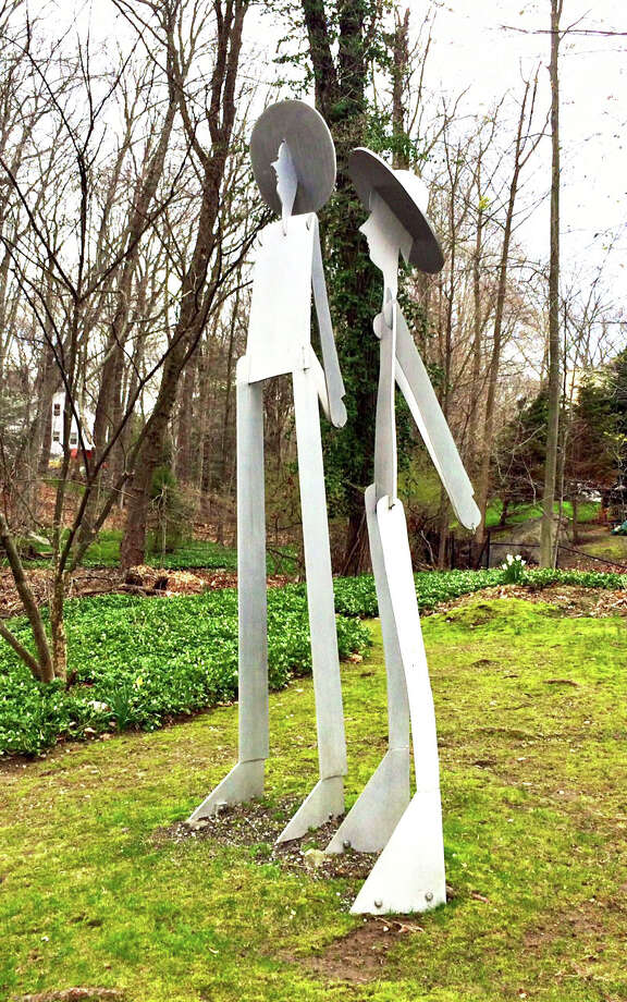 A sculpture by Willam King called The Couple (Adam & Eve) will soon be installed at Earthplace. The artwork was commissioned by the late Susan Rabinowitz Malloy, who left it to the town in her will. Photo: Contributed Photo / Contributed Photo / westport news