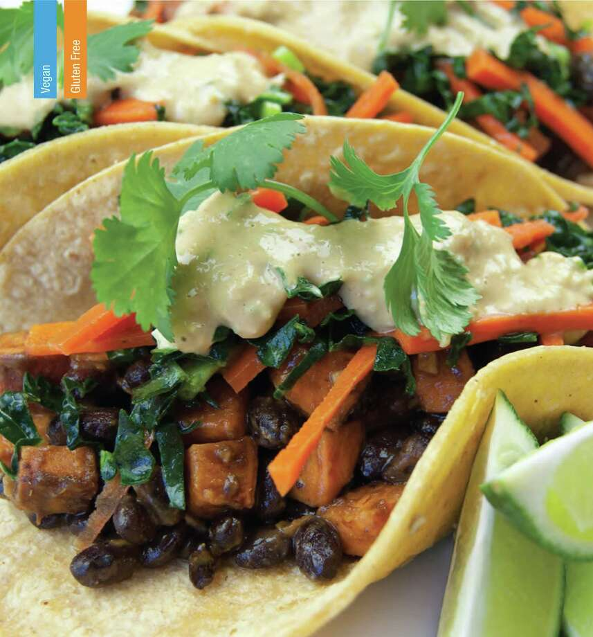 "Black Bean & Sweet Potato Thai Fusion Tacos, from ""Whole Body Reboot,"" by Manuel Villacorta with Sarah Koszyk. Photo: Manuel Villacorta / ONLINE_YES"
