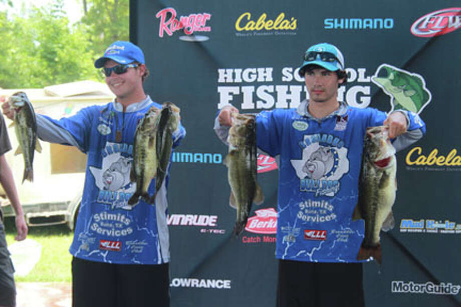 Hunter Curry and Joshua Russell from broaddus, Texas took first place with 33.03 lbs. photo by Carla Moorhead