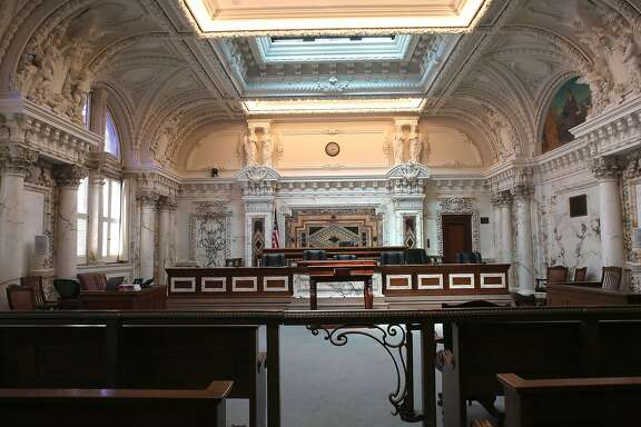 Courtroom One of the 1905 U.S. Court of Appeals building at the intersection of 7th and Mission streets in San Francisco, Calif., on Monday, June 29, 2015.
