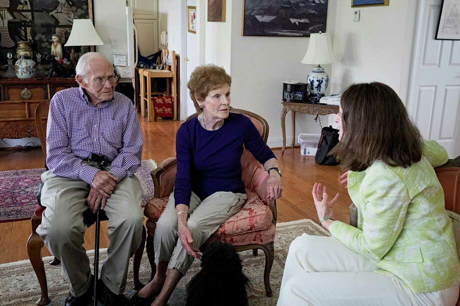 Dr. Danielle Snyderman interviews John and Nancy Roberts, who dated in their youth and were reunited 63 years later. As baby boomers age, the country needs more specialists who understand the elderly. Snyderman hopes their love stories can make her field more appealing to young medical students. Photo: Courtesy Philadelphia Inquirer / Philadelphia Inquirer