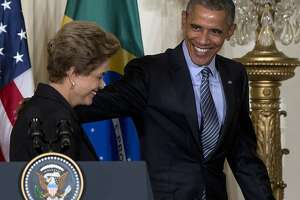 Obama, Brazil's leader seek to move past spying tensions - Photo