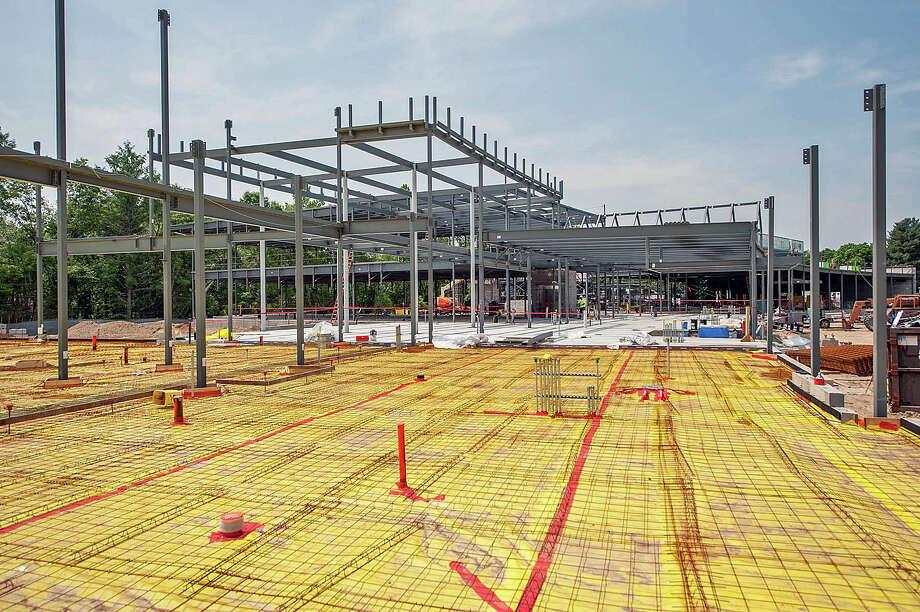 Beamwork for the new Sandy Hook Elementary School. Photo: Robert Umenhofer / / ROBERT UMENHOFER