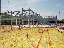 Beamwork for the new Sandy Hook Elementary School.