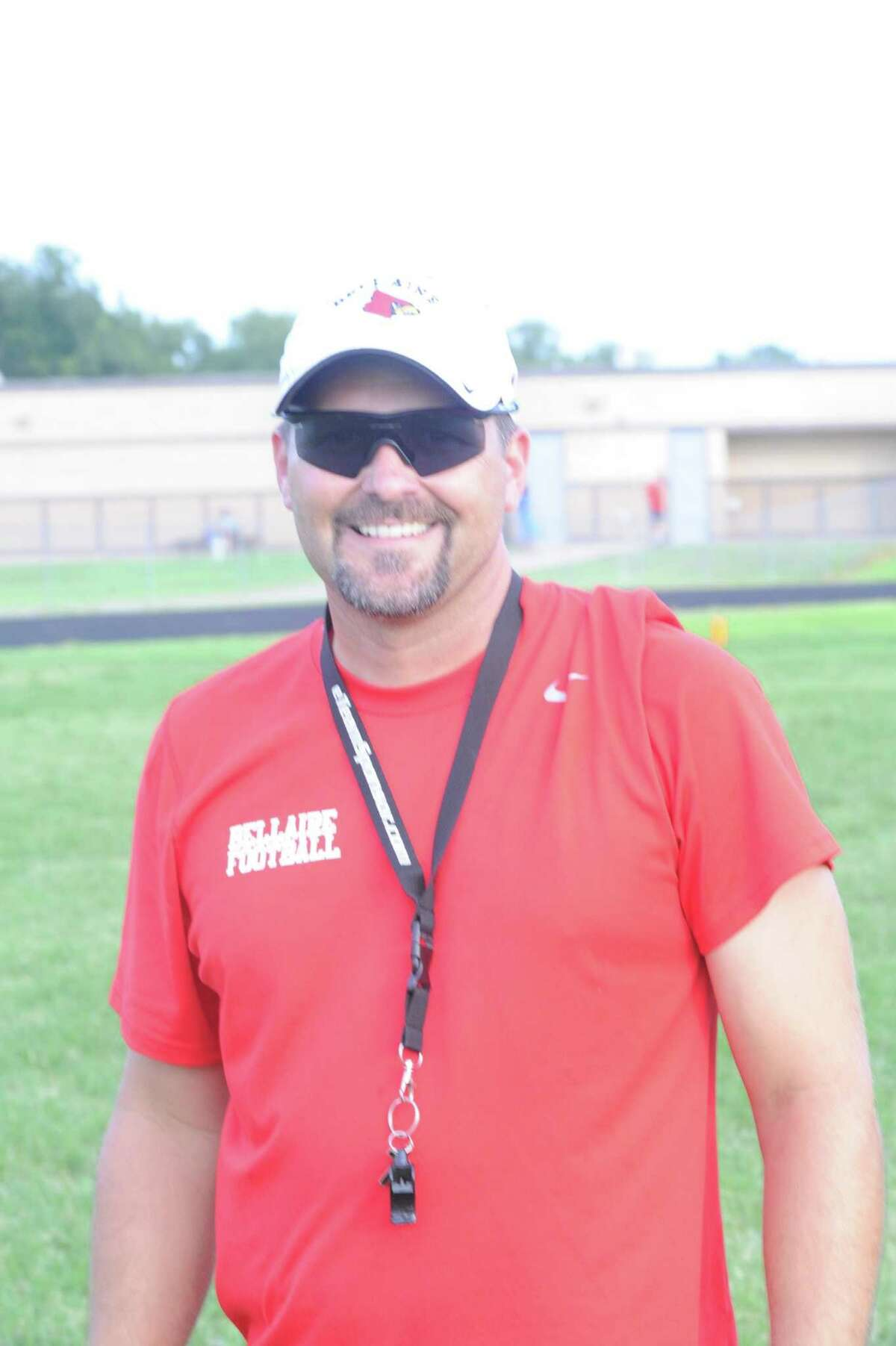 Bellaire High School visited Elkins High School for a football scrimmage game, 8,24,2012. Varsity football coach for Bellaire is Trey Sissom.