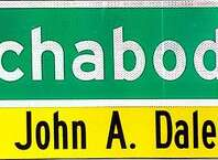A mock-up of the new sign that will honor late Albany police Chief John Dale. (City of Albany)