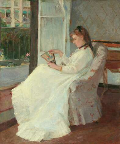 "Berthe Morisot, ""The Artist's Sister at a Window,"" 1869. Photo: National Gallery Of Art"