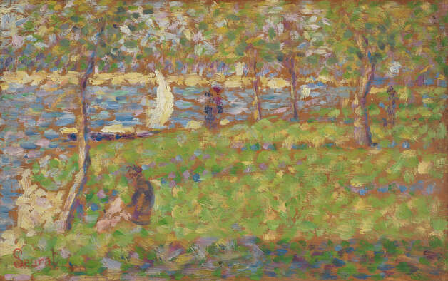 "Georges Seurat, Study for ""La Grande Jatte"", 1884/1885. Photo: National Gallery Of Art"