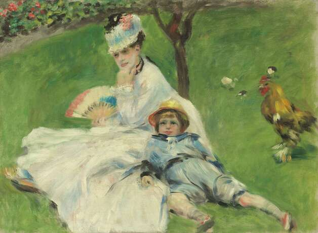 "Auguste Renoir, ""Madame Monet and Her Son,"" 1874. Photo: National Gallery Of Art"