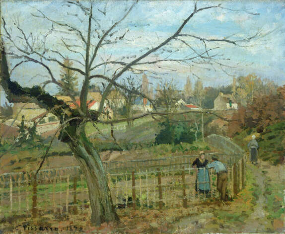 "Camille Pissarro, ""The Fence,"" 1872. Photo: National Gallery Of Art"