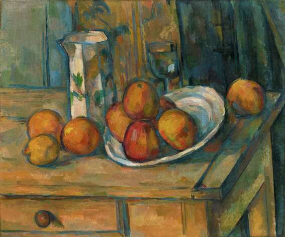 "Paul Cézanne, ""Still Life with Milk Jug and Fruit,"" c. 1900. Photo: National Gallery Of Art, N"