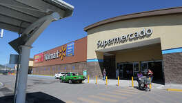 Shoppers are provided with covered parking at the Escobedo Walmart.
