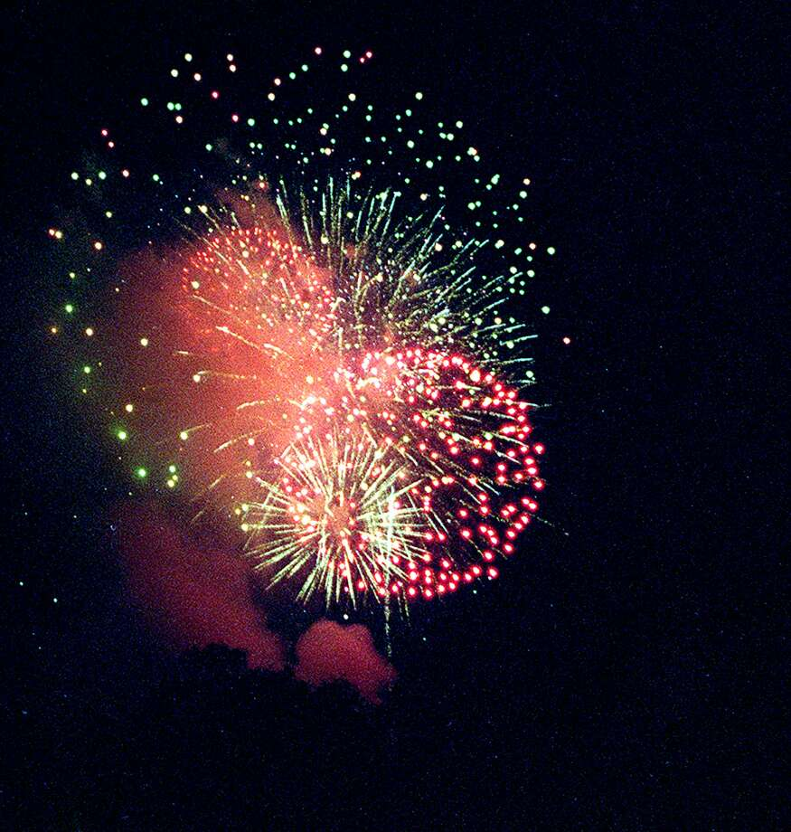 Fireworks in New Milford, 2002 Photo: File Photo
