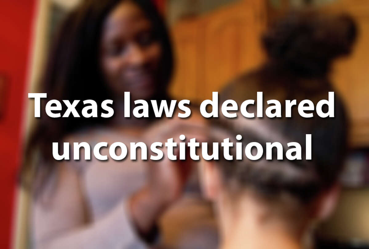 Take a closer look at Texas laws that have been declared unconstitutional.