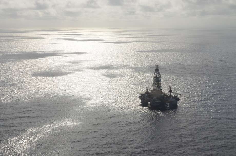 $2.3 billionThe size of an oil spill fine BP has said would imperil its U.S. operations in the Gulf of Mexico Photo: Jennifer A. Dlouhy, Houston Chronicle