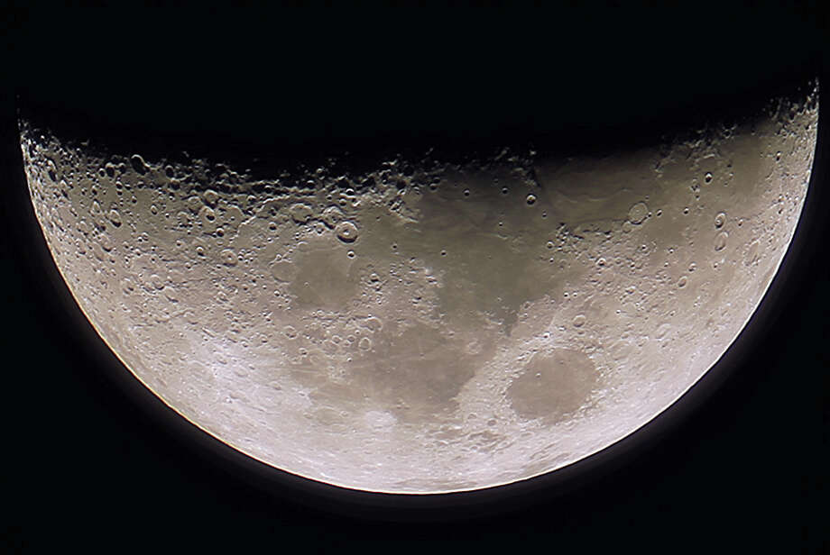 The Moon is one of the heavenly bodies on view at the Bowman Observatory during its regular monthly public viewings. Photo: Contributed / Contributed Photo / Greenwich Time Contributed