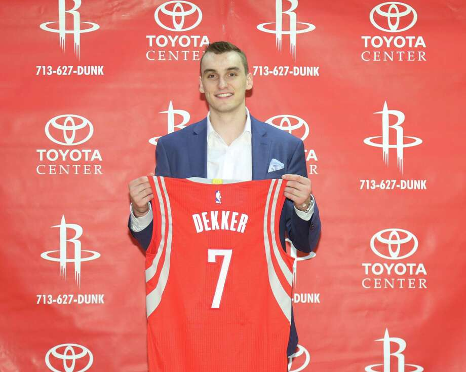 Rockets draft pick Sam Dekker is seen during a press conference regarding the Rockets 2015 NBA Draft picks Friday, June 26, 2015, in Houston. ( Jon Shapley / Houston Chronicle ) Photo: Jon Shapley, Staff / © 2015 Houston Chronicle