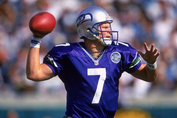 Jon Kitna Years with Seahawks: 1997-2000 Seahawks stats: 658-of-1,130 passing (58.2 percent), 7,552 yards, 49 touchdowns, 45 interceptions; 113 rushing attempts, 259 yards, 3 touchdowns Career stats: 2,677-of-4,442 passing (60.3 percent), 29,745 yards, 169 touchdowns, 165 interceptions; 313 rushing attempts, 956 yards, 11 touchdowns The case for: The Tacoma native thought his football career was all but over after leading Central Washington to an NAIA national championship in 1995, but a tryout with former Seahawks coach Dennis Erickson led to a spot on the team's practice squad, then NFL Europe, then back to Seattle. He replaced Warren Moon as the Hawks' starter in 1999, leading the team to an AFC West title that year.