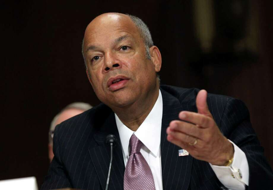 In this April 28, 2015, file photo, Homeland Security Secretary Jeh Johnson testifies on Capitol Hill Photo: Lauren Victoria Burke /Associated Press / FR132934 AP