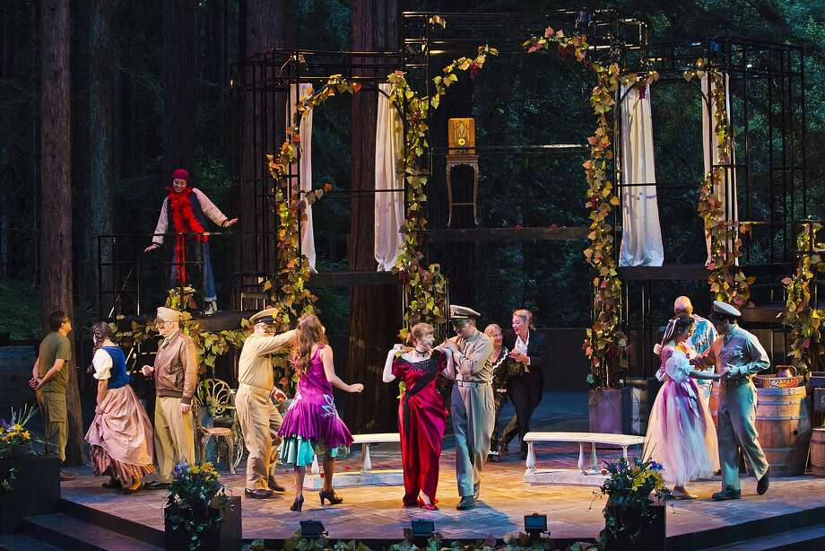 """The cast in the masked ball scene in Santa Cruz Shakespeare's """"Much Ado About Nothing"""" Photo: Rr Jones"""