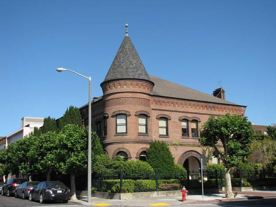 Built in 1893 as the headquarters of the San Francisco Gas Light Co., this two-story brick building designed by Joseph Crockett is like nothing around it in the Marina district. Photo: John King, The Chronicle