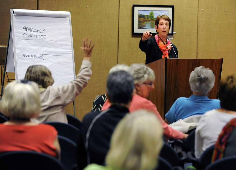 Bonnie Edelstein, Death with Dignity-Albany , takes questions during a Death with Dignity-Albany forum at the William K. Sanford Town Library of on Tuesday, June 30, 2015 in Colonie, N.Y. (Lori Van Buren / Times Union) Photo: Lori Van Buren