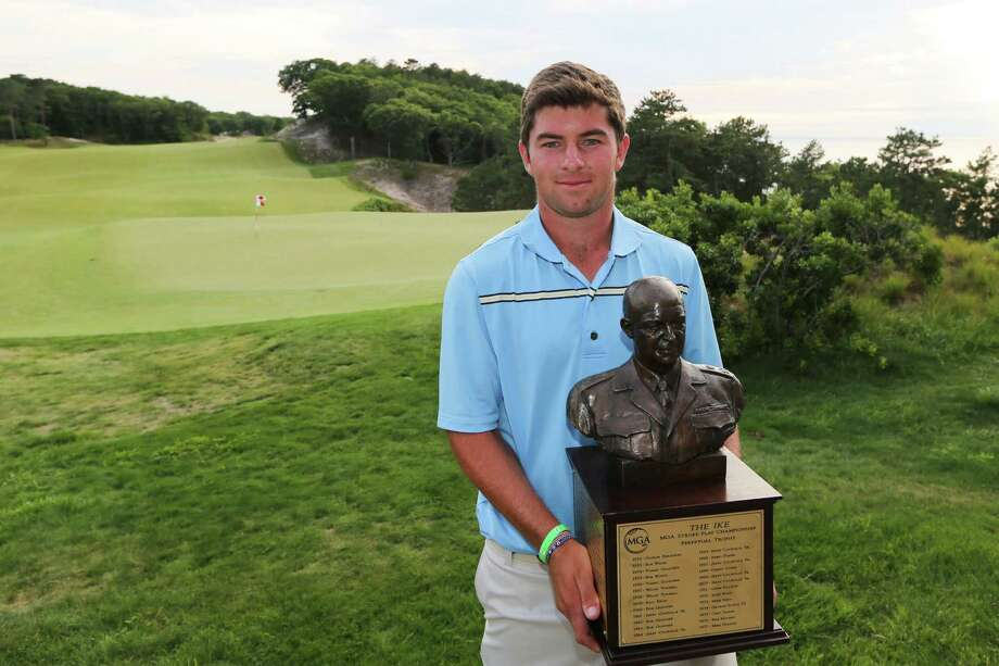 Cameron Young of Sleepy Hollow won the Ike Championship, his third MGA title, today at FriarâÄôs Head. His 54-hole score of 7-under 206 was five strokes better than the rest of the field. Young became the youngest winner of the Ike with this win. Riverhead, N.Y. June 30, 2015 Photo: Metropolitian Golf Association/C / Metropolitian Golf Association/C / Greenwich Time Contributed
