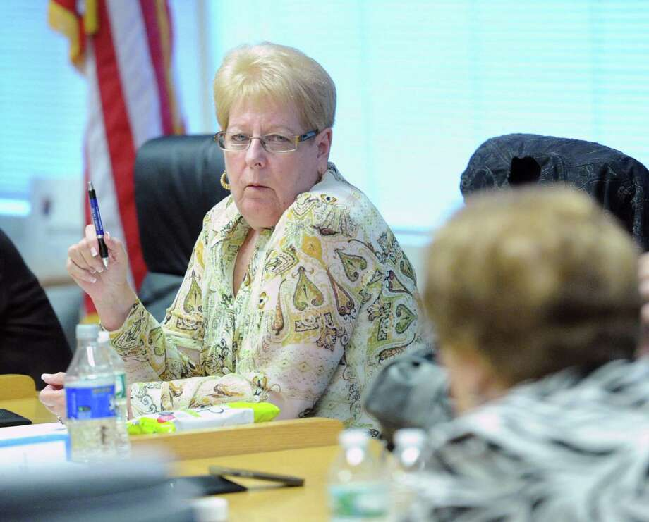 Jackie Heftman, president of the Stamford Board of Education Photo: Bob Luckey / Bob Luckey / Greenwich Time