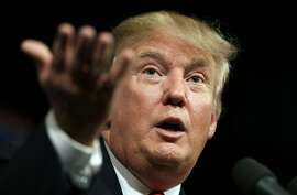 In this June 16, 2015 file photo, Republican presidential candidate Donald Trump speaks to supporters during a rally in Des Moines, Iowa. Donald Trump's lawyers said Trump and the Miss Universe pageant have sued Univision for $500 million on Tuesday, June 30, 2015, claiming Trump's First Amendment rights were violated when the company backed out of its contract to air the Miss USA contest. (AP Photo/Charlie Neibergall, File)