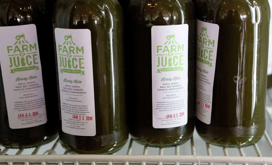 Farm to Juice offers juices, smoothies, nut milks and coconut yogurt. Photo: Express-News File Photo / SAN ANTONIO EXPRESS-NEWS