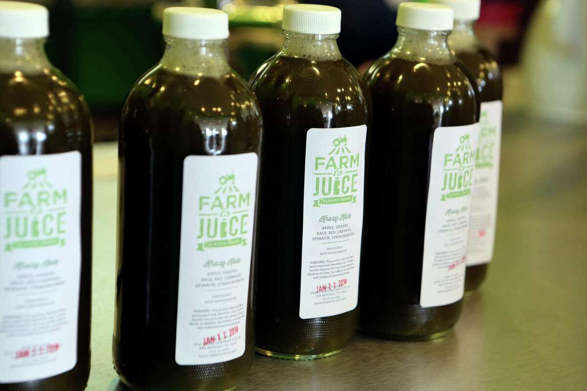 At Farm to Juice, a 16-ounce bottle of juice costs $5-$8.