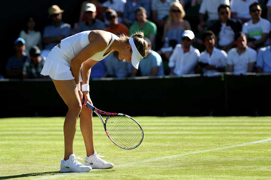 Tuesday's loss was the 12th in the last 14 matches for Eugenie Bouchard, a semifinalist in three Grand Slam events in 2014, as the Canadian has tried to play through a torn abdominal muscle. Photo: Clive Brunskill, Staff / 2015 Getty Images