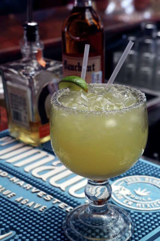 The margarita at La Tequilera del Patrón includes lime juice, orange juice, agave nectar, tequila, and orange liqueur. Photo: Express-News File Photo / SAN ANTONIO EXPRESS-NEWS