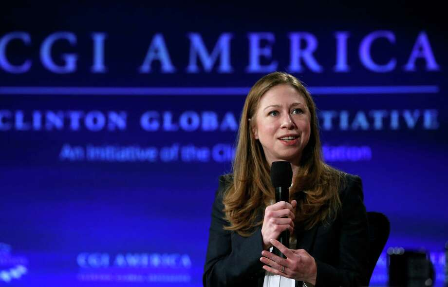 On June 9, Chelsea Clin- ton emcees a forum of the Clinton Glo- bal Initiative. Photo: Brennan Linsley / Associated Press / AP