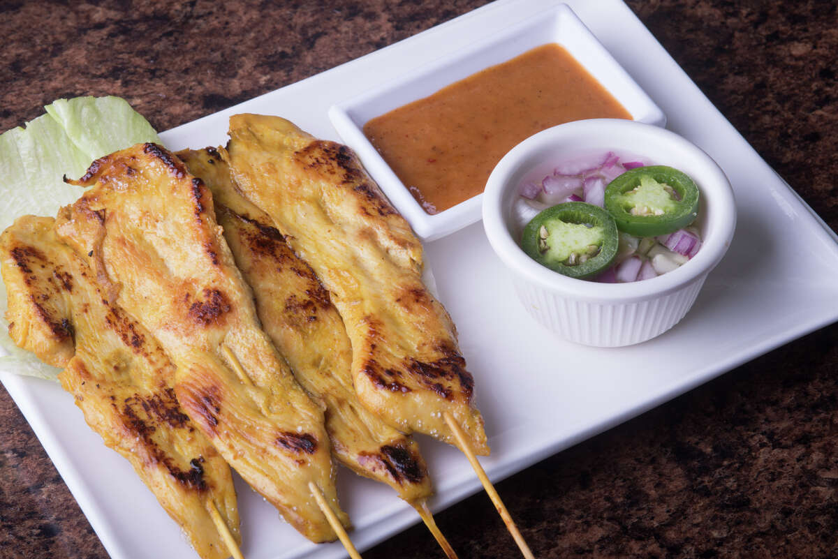 Chicken Satay from Thai Chili at 2950 Thousand Oaks.