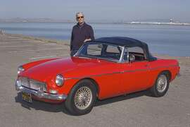 Photos of Gary Baca and his 1965 MGB. Photographed on April 30, 2015 at the San Leandro Marina, San Leandro, CA.