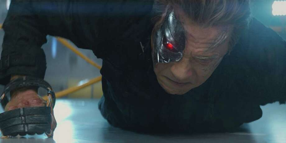 "Arnold Schwarzenegger reprises his role as the Terminator in ""Terminator Genisys."" (Melissa Sue Gordon/Paramount Pictures/TNS) Photo: Melissa Sue Gordon, HO / McClatchy-Tribune News Service / Paramount Pictures"
