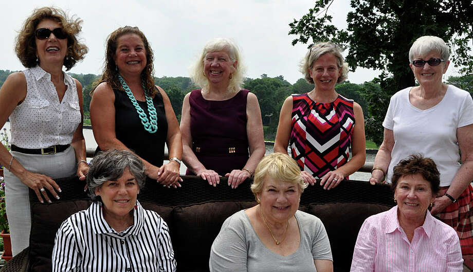 Westport League of Women Voters officers for 2015-16 include: seated from left, Eileen Belmont, Celeste LaCroix and Pat Porio; standing from left, Rachel Prior, Barbara Utting, Liz-Ann Koos, Sheila Ward and Ellie Lowenstein. Not in photo: Judy Guthman, Cheryl McKenna and Becky Ruthen. Photo: Contributed Photo / Contributed Photo / Westport News