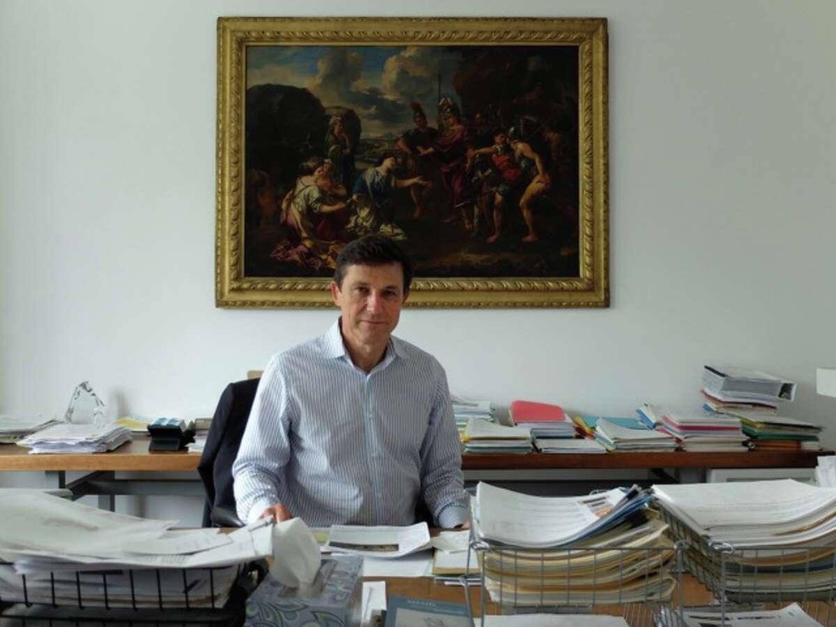 Menil Collection director Josef Helfenstein in his office.