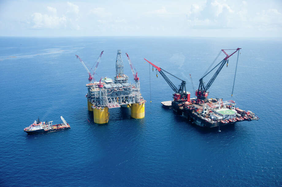 Shell's Olympus platform is set up on the Mars field in the Gulf of Mexico in July 2013. Photo: Royal Dutch Shell