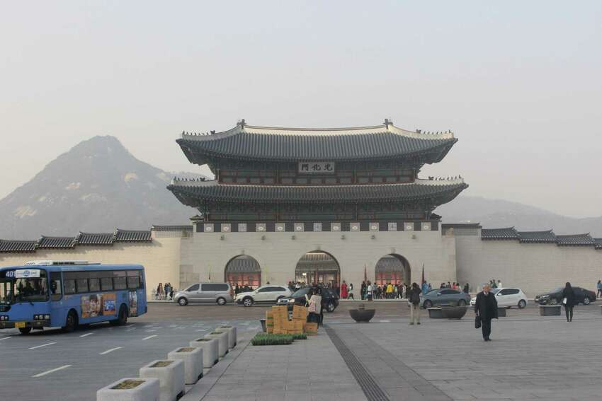 Gyeongbok Palace, built in the 1300s, is one of Korea's most well-known attractions and is located in the heart of Seoul.